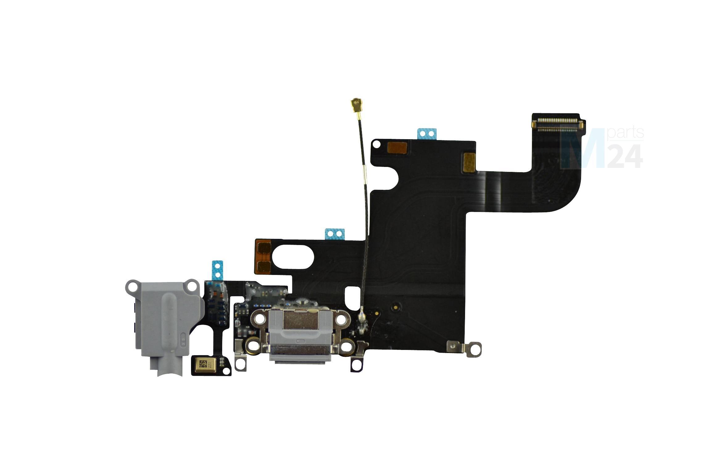 iphone 6 ladebuchse grau schwarz dock connector flex. Black Bedroom Furniture Sets. Home Design Ideas