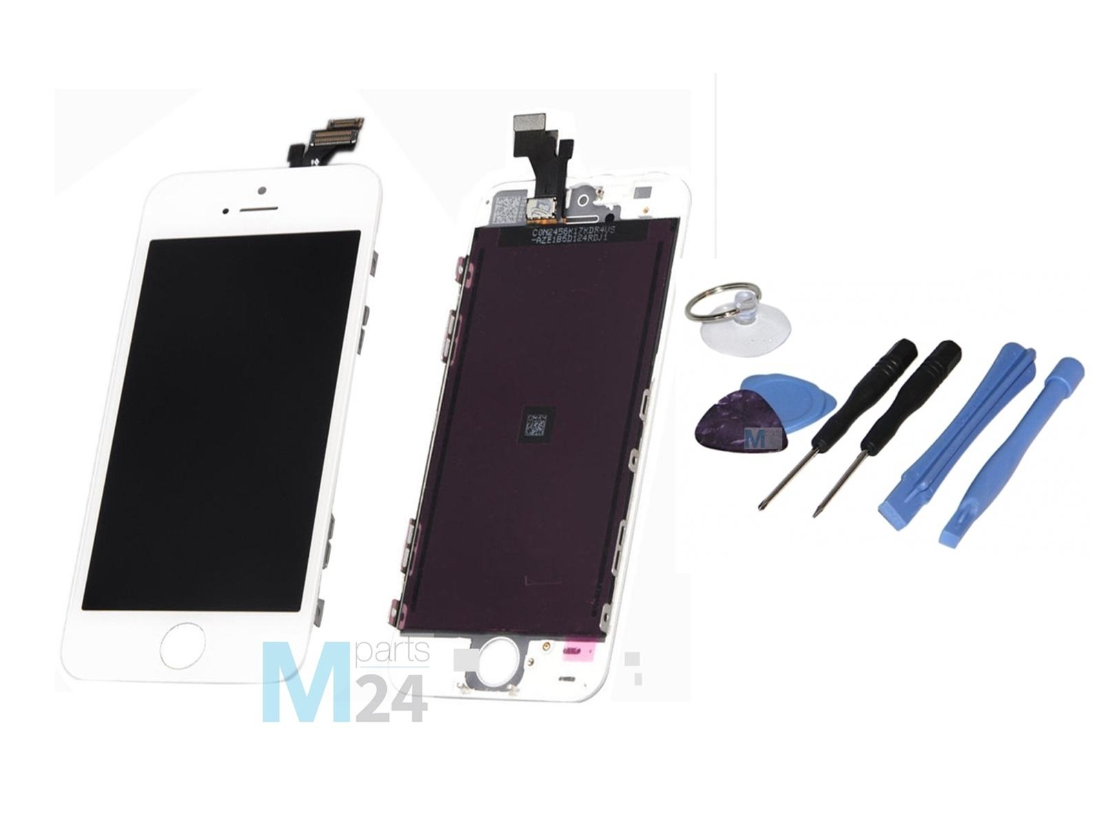 iphone 5 display reparatur set wei lcd touchscreen. Black Bedroom Furniture Sets. Home Design Ideas